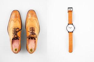 vintage mens watch & shoes