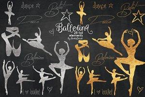 Ballerina - Gold & Silver Foil