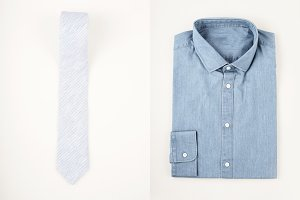 Mens fashion set - shirt and tie