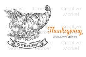 Thanksgiving hand drawn set
