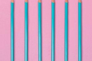 Blue crayon pencils