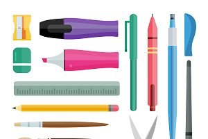 Flat stationery drawing tools