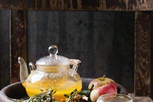Berry sea buckthorn tea
