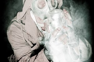 men in the gas mask