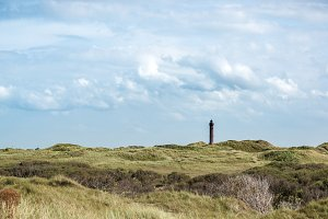 The lighthouse in dunes