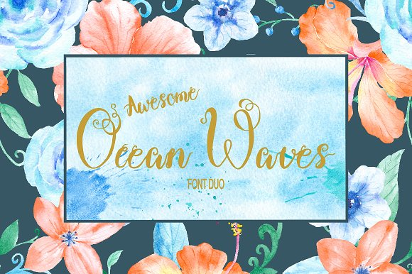 Brush Font Duo Ocean Waves
