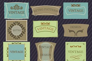 Vintage & Sale Labels SET