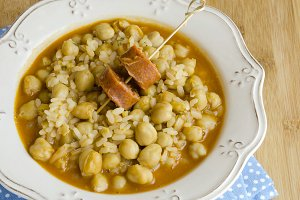 Chickpeas with rice
