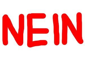 Red Nein (no) word