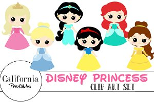 Disney Princess Clip Art Set