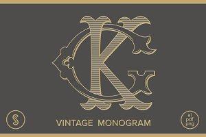 GK Monogram KG Monogram