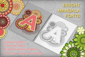 Bright Vector Mandala Fonts