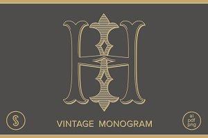 HI Monogram IH Monogram