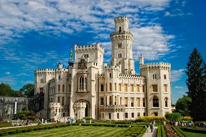 Old castle against blue sky