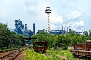 Metal plant damages the environment