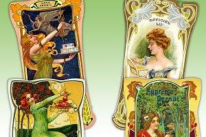 Art Nouveau Biscuit Trading Cards