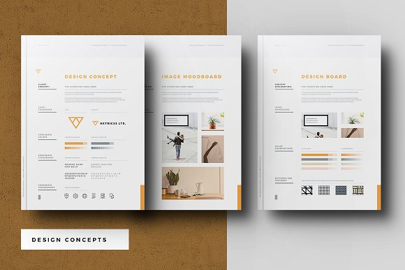 startup proposal pitch pack brochure templates creative market