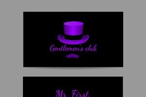 Gentlemen club, horizontal card