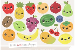 Kawaii Fruit Clipart