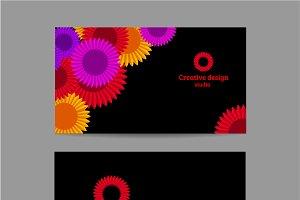 Creative business horizontal card
