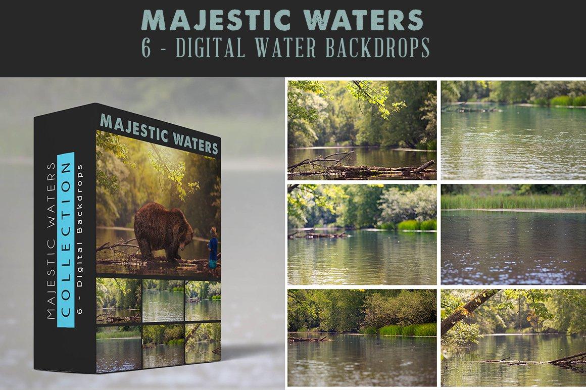 majestic waters 6 digital backdrop graphic objects creative market