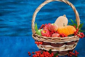 Pumpkin, apples and rowan-berry