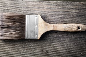 dirty old paint brush