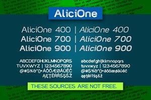 AliciOne font