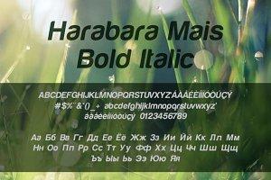 Harabara Mais Bold Italic