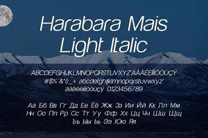 Harabara Mais Light Italic