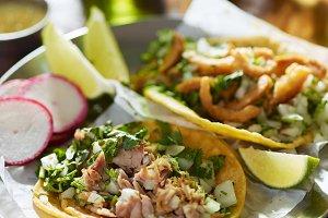 street tacos with pork