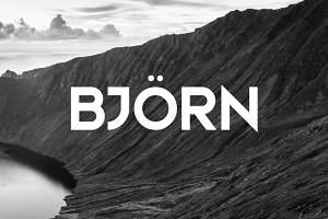 Bjorn Typeface