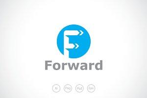 Alphabet F Typography Logo Template