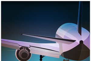 Airplane Old Poster mini Set