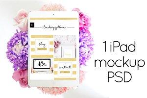 PSD Tablet Mockup | Styled Floral
