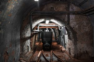 Mine wagon, inside the mine