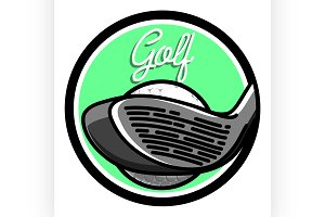 Color vintage golf emblems