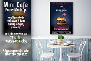 Mini Cafe Poster Mockup