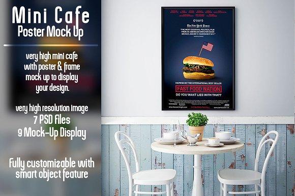 Download Mini Cafe Poster Mockup