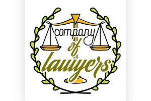 Color vintage lawyer emblem