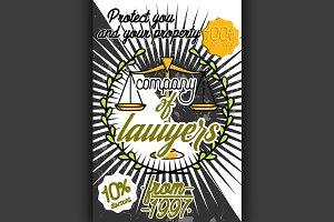 Color vintage lawyer poster