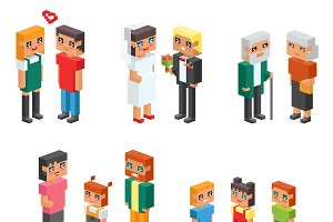 3d isometric family couples