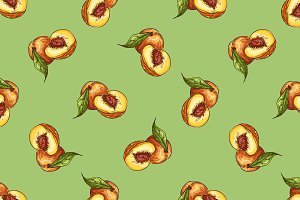 Pattern of peaches