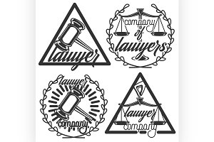 Vintage lawyer emblems