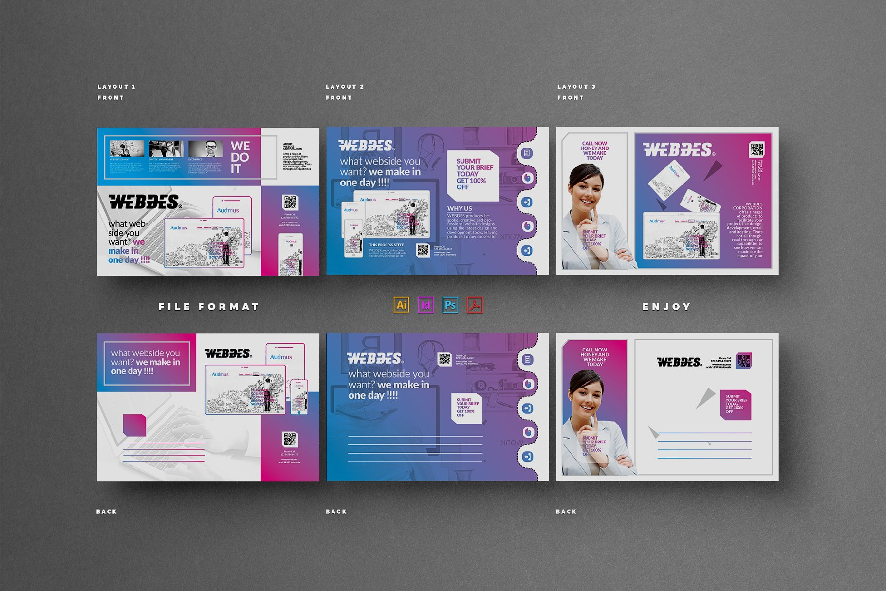 Business postcard card templates creative market pro previous cheaphphosting Image collections