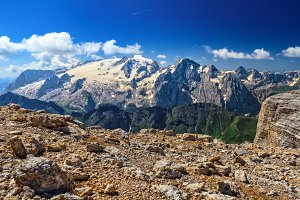 Dolomiti - mt Marmolada from Sass Pordoi