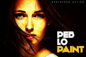Peblo Paint Photoshop Action
