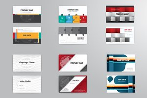 Business cards 6template modern