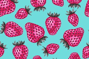 Patterns with strawberries.
