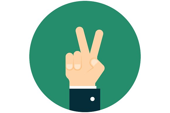 Hand Giving A Peace Sign Icons Creative Market